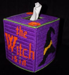 The Witch is In Tissue Box Cover by HandcraftedHolidays on Etsy, $14.00
