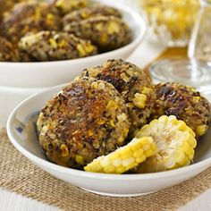 Tasty and fragrant Spiced Quinoa Corn Patties flavored with garam masala. Great as an appetizer, snack, side dish, or in the lunchbox.