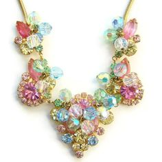 Hey, I found this really awesome Etsy listing at https://www.etsy.com/listing/211929796/juliana-pastel-rhinestone-bead-necklace