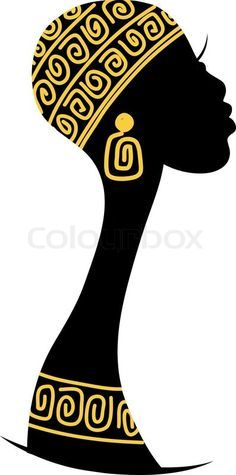 Stock vector ✓ 18 M images ✓ High quality images for web & print Female head silhouette for your design African Girl, African American Art, African Women, Black Women Art, Black Art, Afrique Art, African Art Paintings, Girl Silhouette, Female Art