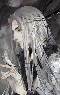 Lord Orin of Winter Court <--previous pinner's words (this looks cropped. Anyone know who the artist is? Chinese Drawings, Chinese Art, Art Drawings, Character Inspiration, Character Art, Character Design, Ai No Kusabi, Wow Art, Thranduil