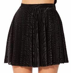 Burned Zebra Skater Skirt
