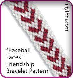 Baseball Laces Friendship Bracelet Pattern