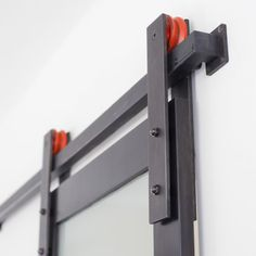 Stainless steel barn door hardware offers beauty and style in a totally unique designer package. Our modern line-up is perfect for wood or glass doors.