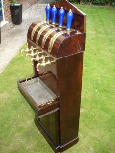 Beautiful mahogany beer engine (pump).