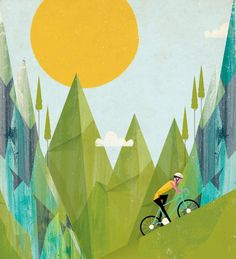 Illustration for Bicycle Magazine by Andrew Bannecker, shown on Illustration Age