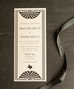 Gatsby Wedding Invitations The Art Deco 1920u0027s By Inoroutmedia, ...