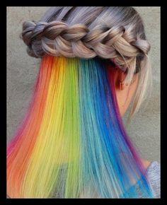 Versteckte Regenbogen Haare – Farbkombinationen und ...