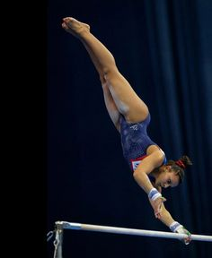 Becky Downie had more to celebrate with a fantastic qualification  uneven bars.