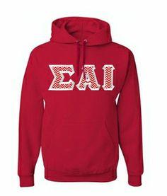 $40 Sigma Alpha Iota Custom Twill Hooded Sweatshirt #greekgear #sororityhoodie