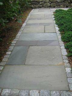 Full Color Pattern Bluestone And Granite Edging