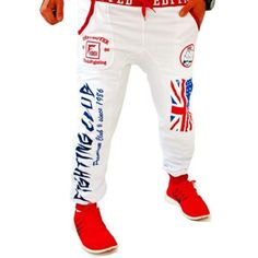 cc7bb55dc75028 Winter Spring Fashion Men Joggers Leisure Men s trousers British national  flag printing Design Loose Casual Men Jogger Pants