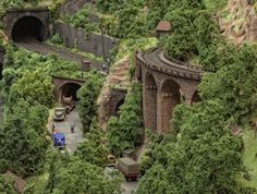Miniature train landscape