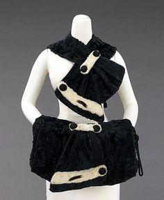 Accessory set Jacob Pivovar  Date:     1930–39 Culture:     American Medium:     fur, silk Dimensions:     (a): 16 1/2 in. (41.9 cm) (b): 18 x 13 in. (45.7 x 33 cm)