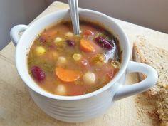 Minestrone soup recipe (vegan, gluten free, nut free)