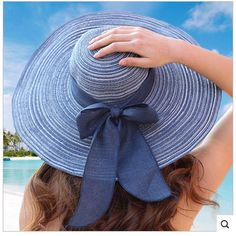 HOT 2017 New Fashion sun hats Summer Cotton sun visor hat  Beach hat for women ladies Large brim hat With Ribbons free shipping