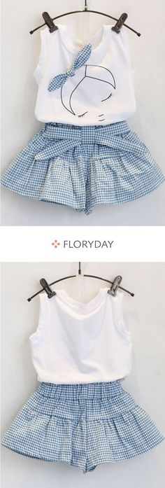Ideas Sewing Baby Girl Dress Children For 2019 Dresses Kids Girl, Little Girl Outfits, Kids Outfits, Cute Outfits, Children Dress, Baby Girl Fashion, Kids Fashion, Baby Dress Design, Sleeveless Outfit