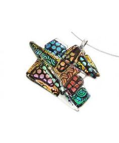 Multicolor glashanger handgemaakt van kleurrijk dichroide glas!