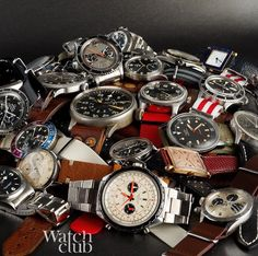 Our 'vintage watch pile' photo featured in @revolution_ig latest magazine article on London's premier watch specialists. But did you have to mention the competition
