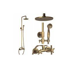 Kaufen (EU Lager)Antike Messing-Duscharmatur mit 8-Zoll-Duschkopf + Handbrause mit Günstigste Preis und Gute Service!