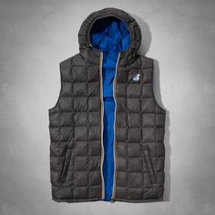 Mens K-Way with A&F Jacques Thermo Plus Vest | Mens K-Way with A&F | Abercrombie.com