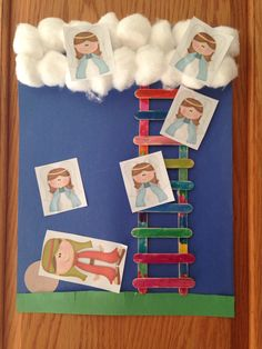 Jacob's Ladder Craft - Homeschool Kindergarten Craft - Sonlight Core A Bible Week 3 Jacob