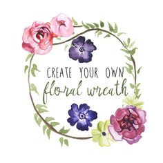 Peony Wreath Watercolor Floral Clipart INSTANT Download Digital Clip Art Flower Clipart Flowers Watercolors Commercial Use Floral Clip Art