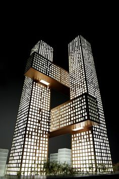 Cross # Towers ~   residential towers Seoul, Korea designed by Danish architects, BIG