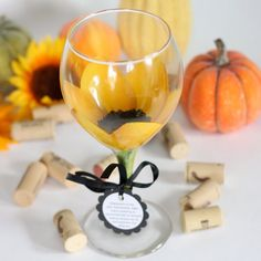hand painted sunflower wine glass...could be a great diy project painting a set of glasses with different flowers!