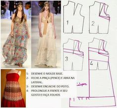 DRESSES ~ free patterns ~ Molds Fashion for Measure