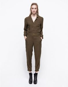 f7162f92c6 A lightweight wool flight-style suit from Which We Want. Features a belted  waist