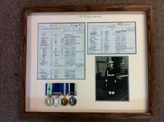 Naval Medals and papers.