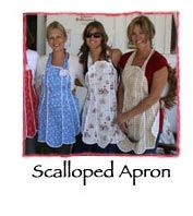 Susan Branch scalloped apron free pattern, Love this site