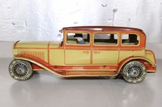 Antique Germany 1920s Karl Bub Tin Litho Toy Wind Up Limo Car No Distler Tippco