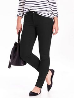 Old Navy Curvy Skinny Jeans For Women Size Tall – Black jack