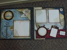 The Open Sea 12x12 page layout using Stampin Up Open Sea stamp set and DSP.