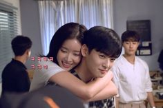 Watch: Cha Eun Woo Can't Stop Giggling While Filming Romantic Scene With Im Soo Hyang Drama Funny, Drama Memes, Korean Couple, Best Couple, Web Drama, Drama Drama, Cha Eunwoo Astro, Moorim School, Live Action