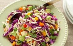 Lemony Cabbage-Avocado Slaw - great Paleo Salad (ps - I didn't have the hemp seeds to add - was still lovely)
