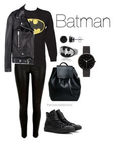 """""""Batman"""" by msfrancescaaloe on Polyvore featuring River Island, Fabric Flavours, Acne Studios, Converse, I Love Ugly, BERRICLE, women's clothing, women's fashion, women and female"""