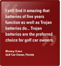 Fit the long lasting Golf Battery to your Golf Trolley, Golf Cart or Golf Buggy http://www.trojan-batteries-online.co.uk