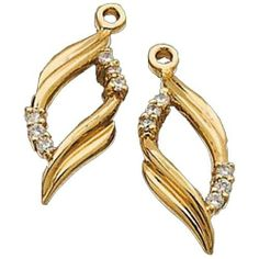 14kt Yellow Gold Stylish Leaf Diamond Earrings Jacket Jewelry Days. $429.00. Featuring 0.18 carat of radiant round brilliant cut diamonds perfectly set in prong setting.. Sexy and elegant, this diamond earrings jacket is crafted in luminous 14Kt. Yellow gold.. Weighs approximately 1.93 grams.. Also available in White Gold.. Save 48% Off!