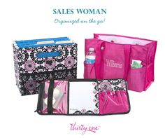 The Organizing Utility Tote, Fold N' File and Fold-And-Go Organizer w/ Notepad work together to keep you organized on the go (for new patterns: www.mythirtyone.com/cathylandolt )