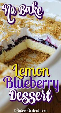 Lemon Dessert Recipes, No Cook Desserts, Gluten Free Desserts, Easy Desserts, Baking Recipes, Custard Desserts, Party Recipes, Fruit Recipes, Cupcake Recipes