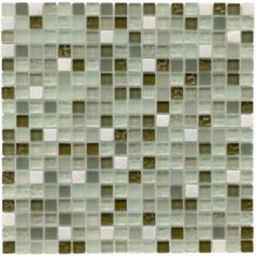 Merola Tile Tessera Emerald Isle 12 in. x 12 in. Glass Mosaic Wall Tile-GDXMSEI at The Home Depot