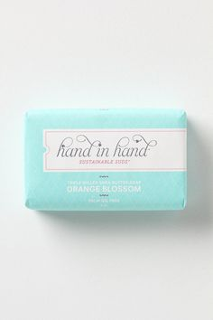 hand in hand soap from Anthropologie (fair trade certified + for every bar bought one is donated to a child in the developing world) $9