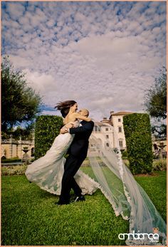 wedding portraits in Vizcaya, the clouds are insane!