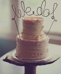 "Rustic Bent Wire ""We Do"" Wedding Cake Topper"