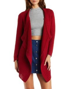 Open Knit Cascade Sweater #CharlotteLook