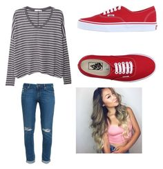 """Untitled #85"" by jamiesowers14 on Polyvore featuring MANGO, Paige Denim and Vans"