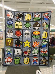 """Super Mario Quilt 98"""" x 111"""""""